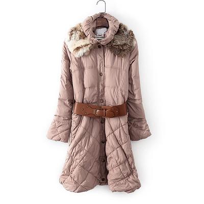 好系列新品专柜正品女装冬装时尚长款保暖防寒棉服15707