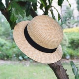 2019ins Korea Men and women Baby Children Seaside Travel Network Red Cover Sun Sunshine Straw Straw Cool Straw Hat