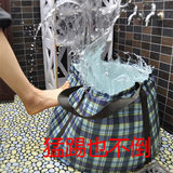 Outdoor portable folding bucket large travel portable children bubble bath storage water bucket tub laundry bucket 60 liters