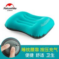 按压自动充气方形枕头旅行空气靠垫家用成人靠枕腰枕旅游便携气垫