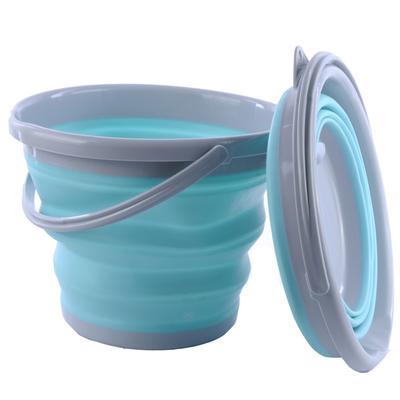折叠水桶 户外便携式钓鱼桶大小号加厚塑料水桶装鱼桶海边玩水桶