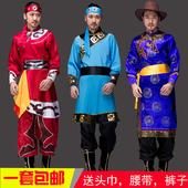 衣服袍 现代藏族演出服舞蹈少数民族男士 男蒙族成人新款 蒙古服装