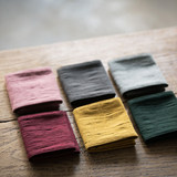 无无图南 Handmade long plain plain cotton and linen tea towel cloth retro Zen tea mat absorbent cloth fabric insulation mat