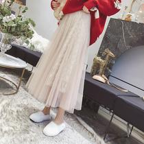 五季家大码女装胖mm春季胯宽大腿粗的女生裙子显瘦蕾丝网纱半身裙