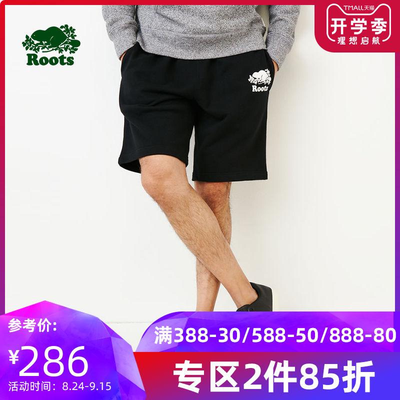 roots2019春季休闲青春活力舒适新款男士针织休闲短裤