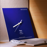 Klein Blue Environmental Clock PAPERVOICE Sweep Seconds Quiet Living Room Decoration Blessing Gift