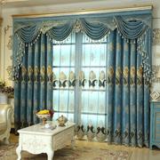 定做雪尼尔高档欧式绣花纱大气窗帘成品加厚遮光客厅帘幔落地窗