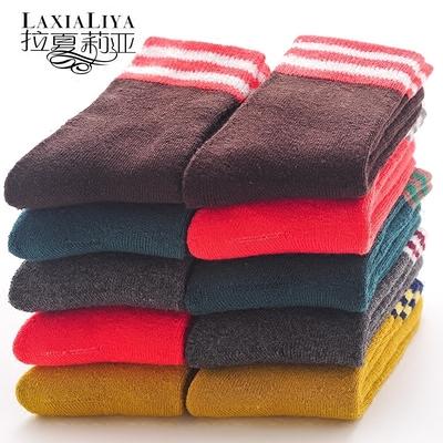 儿童毛巾袜宝宝棉袜男童毛圈女童加厚加绒保暖袜子中大童秋冬冬天