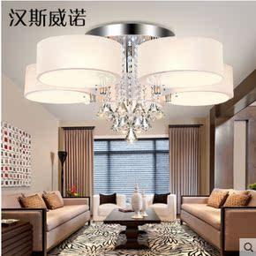 欧式水晶吊灯客厅灯具简约现代卧室灯创意餐厅灯简欧复古蜡烛灯饰