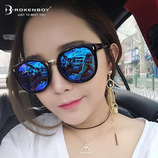 80aa58ccc7 2019 new sunglasses female Korean version of the tide round face polarized  sunglasses anti-UV