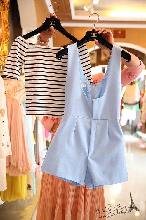 夏季新款学生宽松大码连体背带短裤显瘦阔腿裤两件套装韩版女装潮