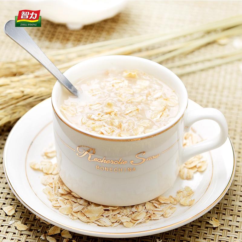 智力燕麦片1500g即食无蔗糖纯燕麦营养早餐原味燕麦片