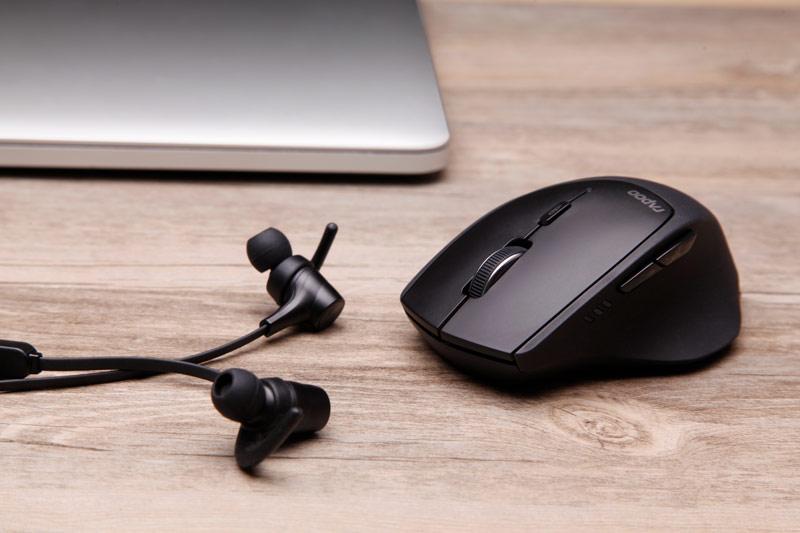 雷柏MT550蓝牙无线鼠标三双模式苹果Win10电脑笔记本商务办公游戏