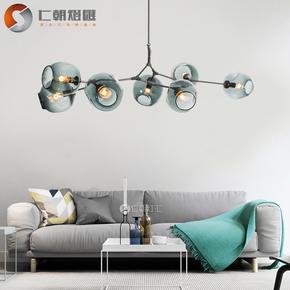 北欧灯具客厅吊灯餐厅灯 后现代卧室分子灯魔豆灯创意个性客厅灯