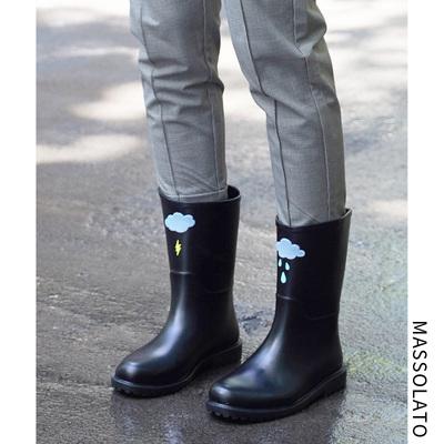 雨鞋女韩国可爱水鞋中筒秋冬时尚防水鞋套鞋防滑胶鞋户外成人雨靴