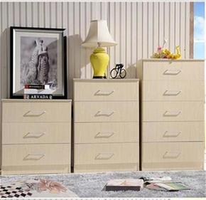 厂家直销家具简约现代储物板式三斗柜四斗柜五斗柜可定制上海包邮