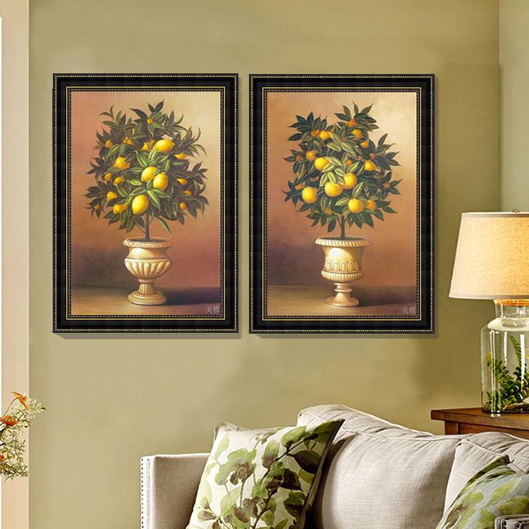 客厅古典柠檬树