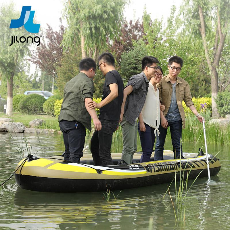 人游艇气垫渔船 4 3 2 橡皮艇加厚充气船钓鱼船冲锋舟皮划艇捕鱼船