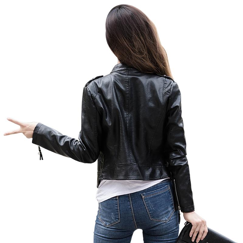 小皮衣女外套2019春秋新款韩版修身显瘦休闲短款皮夹克pu皮机车服
