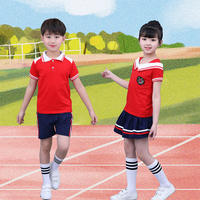 Kindergarten Garden Service Summer England Wind Primary School Graduation School Uniform Sportswear Short Sleeve Children's Class Service Set
