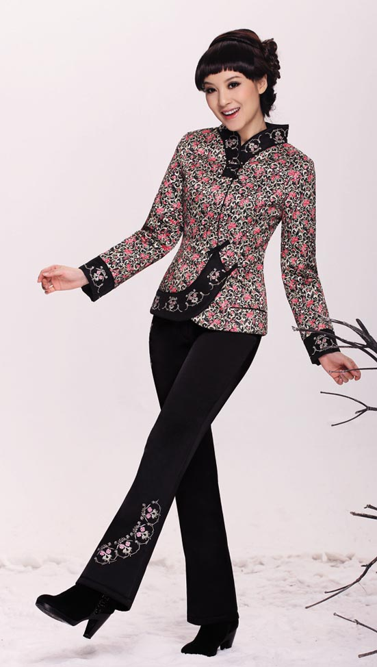 Brand clearance within 50 yuan Chinese style Tang suit female small cotton jacket retro button tops plus