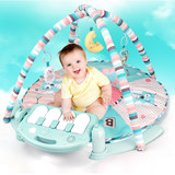 Hexiang baby pedal piano remote control fitness rack Baby early education puzzle game blanket 0-3-6 months toy