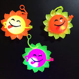 New products, hot smile, sun flower, shiny hair ball, flash, vent, call the ball, colorful vocal massage ball