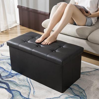 收纳凳子储物凳可坐成人家用皮革沙发凳换鞋长方形收纳箱凳收纳凳
