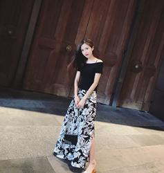 柒柒家夏季新款韩版时尚套装女显瘦针织上衣休闲阔腿裤两件套2018