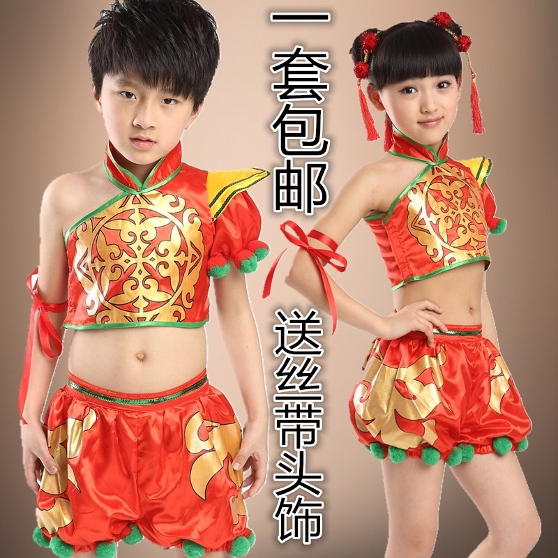 Children's drums, kindergarten, rap, Chinese style, open the door, red dance, waist,