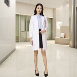 High-end medical plastic surgeon Bai Da-tian suit jacket in the long Korean-style embroidery teacher nurse work clothes
