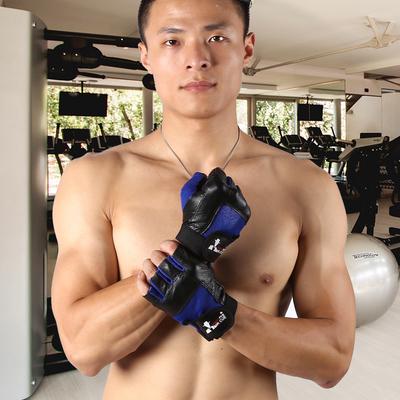 半指健身运动牛皮手套健身训练锻炼器械防滑耐磨透气防护护具装备