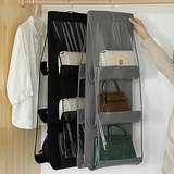 Bag storage hanging bag dormitory wardrobe hanging fabric storage bag wall double-sided thick non-woven storage bag