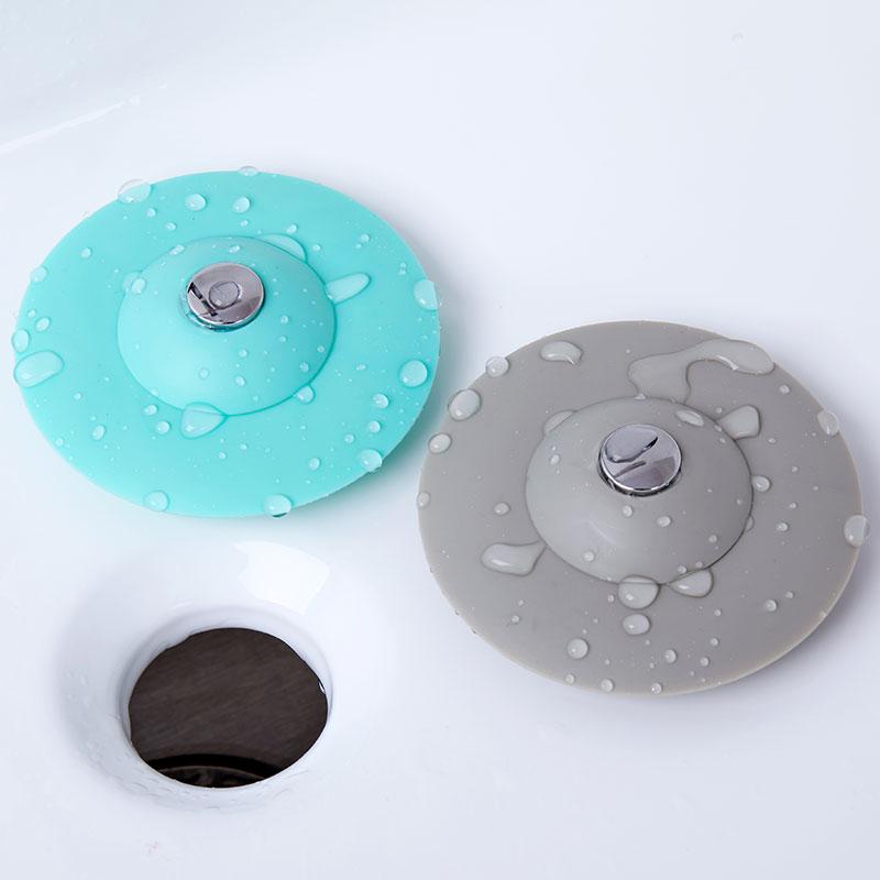 2个装水塞 通用水槽堵水塞下水道防臭盖硅胶水池塞子浴缸防漏水塞