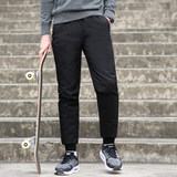 New fashionable down trousers for men wearing young casual and warm white duck down trousers for men's velvet trousers