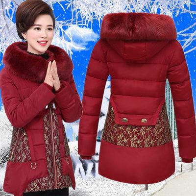 中老年棉衣女装中长款妈妈装棉袄中年人40-50岁冬装外套羽绒棉服