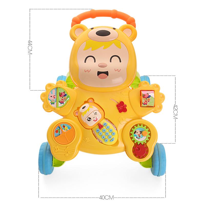 优乐恩学步车婴儿玩具宝宝助步车儿童多功能学走路 手推车1-3岁