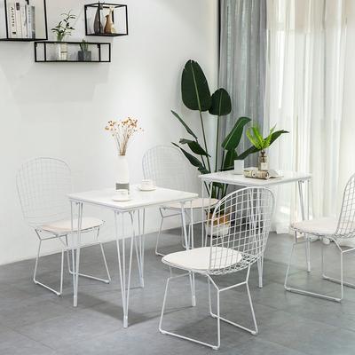 北欧大理石奶茶店桌椅组合 ins风咖啡厅甜品店餐厅网红店2人餐桌