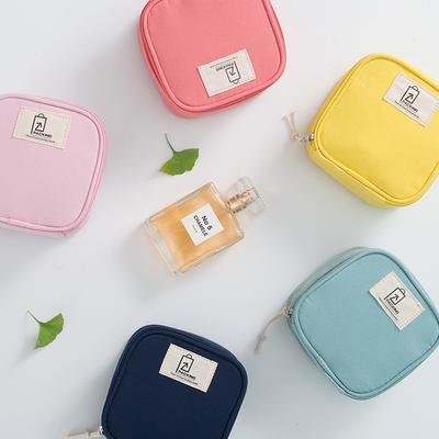 小清新零钱姨妈巾卫生棉收纳包可爱拉链装收纳袋数据线耳机口红包