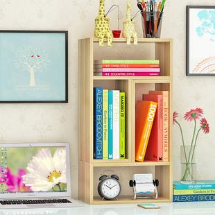 书架简易桌上学生用多功能 桌面伸缩宿舍收纳置物架转角书柜包邮