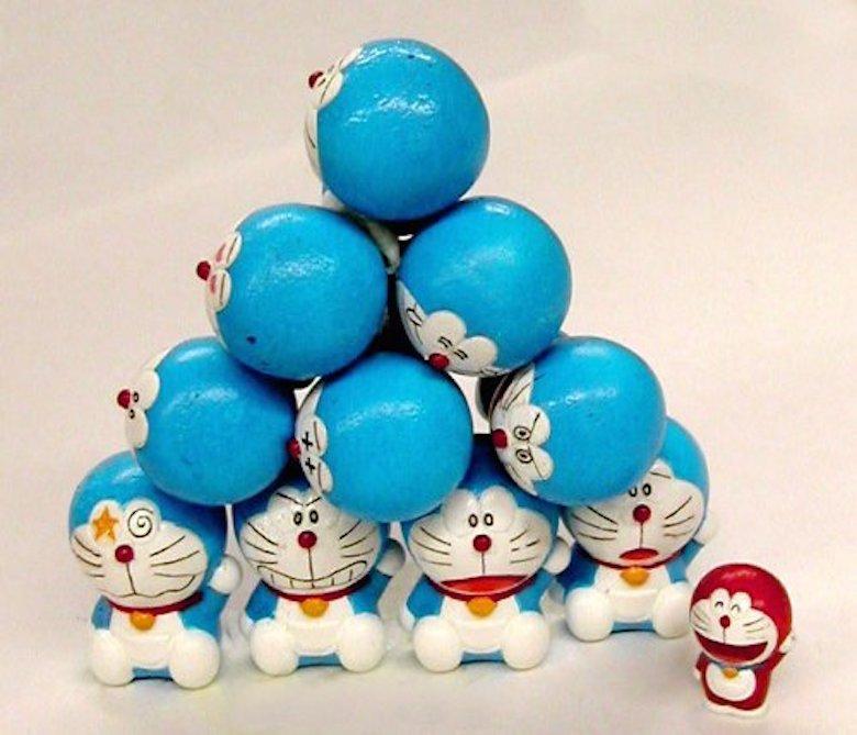 日本采购正品doraemon正版哆啦a梦叮当猫公仔玩偶摆件积木叠叠乐