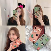 iPhoneX女iPhone6s套个性 Max 创意日韩国新款 立体卡通可爱情侣8plus 全包边防摔保护套 6苹果x手机壳XS图片