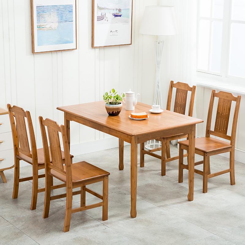 竹制小餐桌
