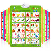 Children's audio wall chart pinyin alphabet early childhood education enlightenment 0-3 years old baby vocal picture literacy