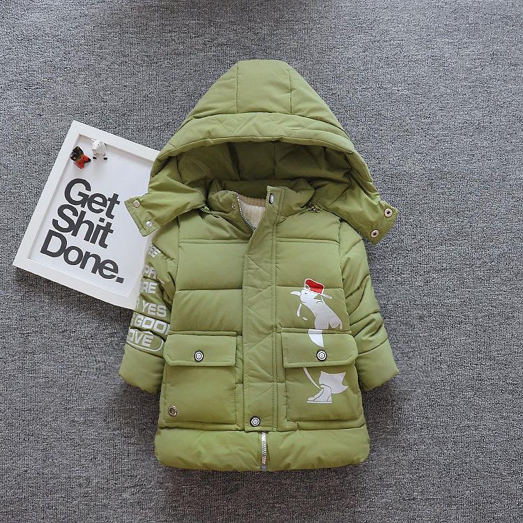 新童装男童棉衣中长款冬装2017新款儿童棉服外套中小童韩版潮棉袄