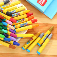 Believe in the quality of the brand Deli 36 color oil pastels children's crayon safe non-toxic washable children's brush art painting color pen set student oily stick paint coloring