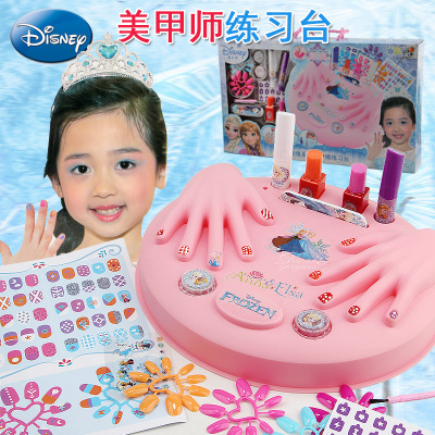 迪士尼儿童指甲油女孩美甲玩具指彩套装冰雪奇缘公主套装化妆品
