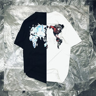 NL23HOOD 2019 World Tee 世界版图 流幕 黑白短袖