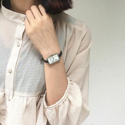 学生长方形手表