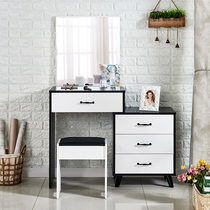 Dressing table Black Simple bedroom modern small multi-function net red makeup table with drawer economic makeup Desk